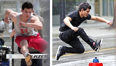 Taylor Lautner Practicing