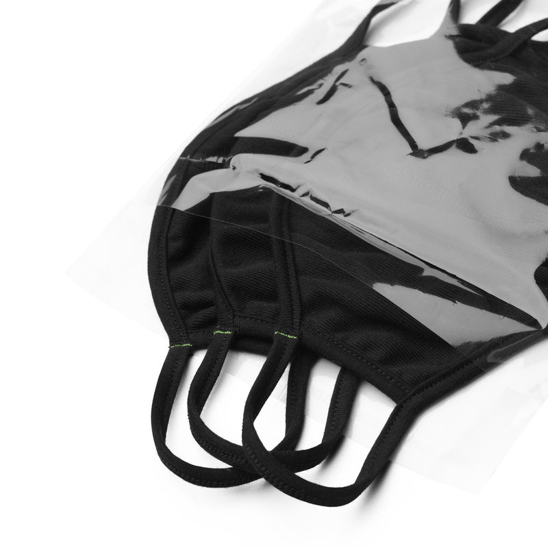 Solid Black Face Mask (3-Pack)