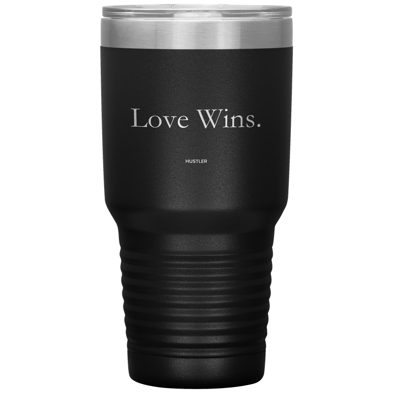Love Wins 30oz Laser Etched Tumbler