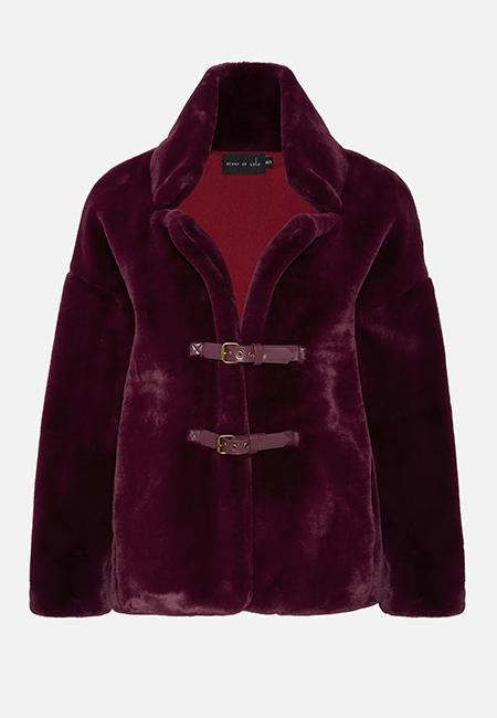 THE BURGUNDY TEDDY JACKET - Story Of Lola