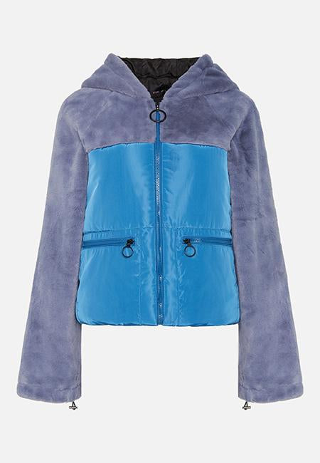 THE ASHLEY BLUE PUFFA JACKET - Story Of Lola