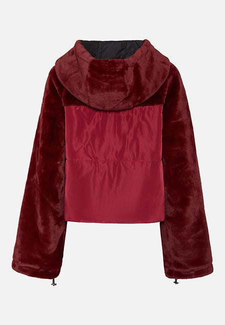 THE ASHLEY BURGUNDY PUFFA JACKET - Story Of Lola