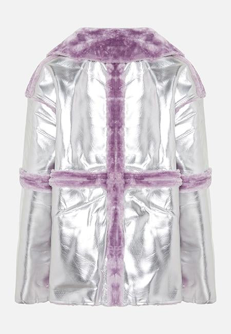 THE MIRANDA SILVER & LILAC JACKET - Story Of Lola