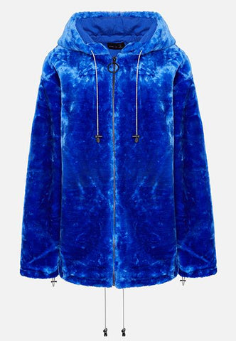 THE BRIGHT BLUE LOLA HOODIE (FULL ZIP) - Story Of Lola