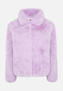 THE LUNA FAUX FUR LILAC JACKET - Story Of Lola