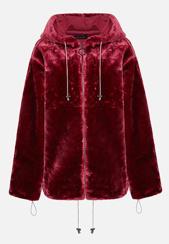 THE BURGUNDY LOLA HOODIE (FULL ZIP) - Story Of Lola