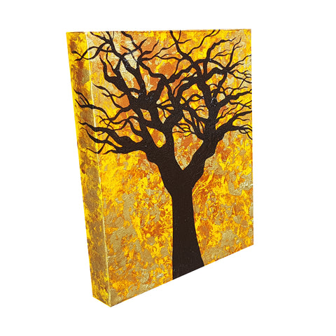 The-Root-of-Evil-by-Alexandra-Romano-Original-Amazing-Tree-Painting-Abstract-Expressionism-Impressionism-Artwork-Yellow-Gold-Black-Copper-Beautiful-Art-Gallery-In-Toronto-Canada