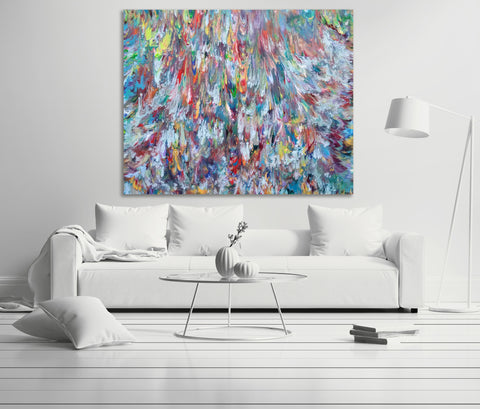 Tritons-Revenge-by-Alexandra Romano-1stDibs-original abstract expressionism large paintings luxury fine art sold art collectors canadian artist london art england