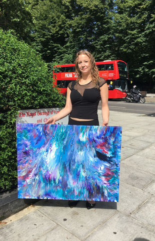 artist-alexandra-romano-flat-space-art-contemporary-abstract-artist-modern-fine-art-london-england-notting hill