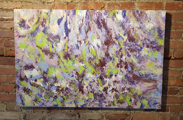 Acid-Reign-by-Alexandra-Romano-Art-Large-Abstract-Paintings-for-Sale-Toronto-Art-Gallery-White-Blue-Green-Purple-Acrylic-on-Canvas-Artwork-3