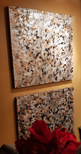 Black Diamond | Diptych | 30 x 30 IN x2