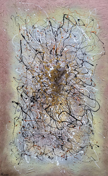 Divine Energy Modern Abstract Art Original Painting Mixed Media on Canvas
