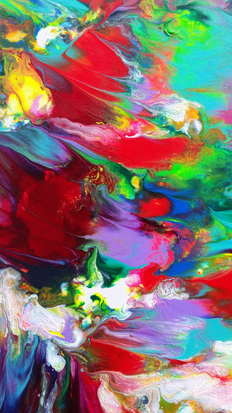 Good Karma Original Abstract Expressionism Fluid Painting Acrylic on Canvas Modern Contemporary Art