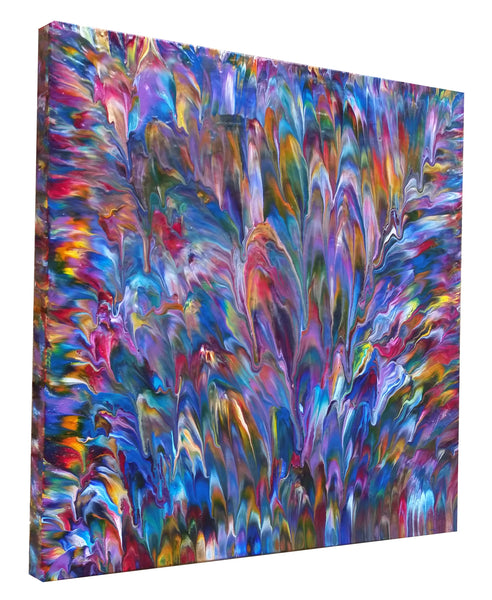Iridescence, Abstract Colorful Painting