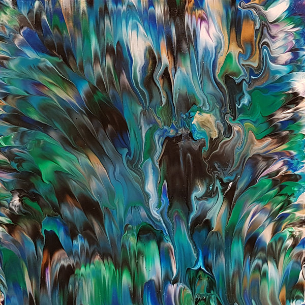 Peacock-Alexandra-Romano-Art-Original-Artworks-Blue-Green-Black-Painting-Peacock-Feathers-Painting-for-Sale-Online-Art-Gallery