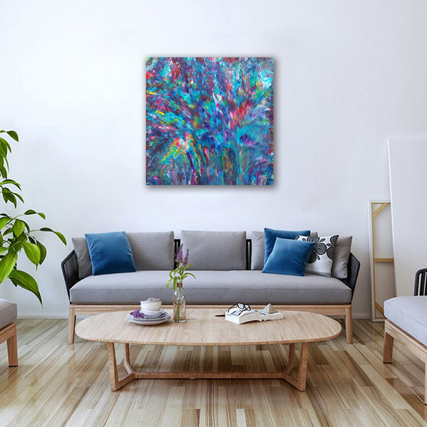 Psychedelic-Waterfall-No.-3-by-Alexandra-Romano-Art-Original-One-of-a-Kind-Abstract-Expressionism-Paintings-Buy-Affordable-Artwork-Online-Modern Home Decor