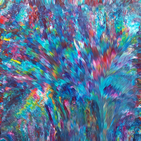 Psychedelic-Waterfall-No.-3-by-Alexandra-Romano-Art-Original-One-of-a-Kind-Abstract-Expressionism-Paintings-Buy-Affordable-Artwork-Online-contemporary Home Decor