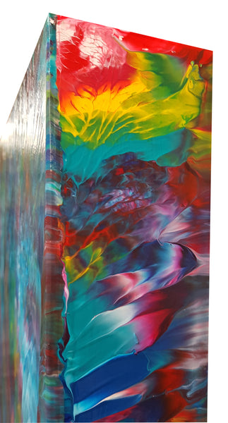 Psychedelic-Waterfall-No.-3-by-Alexandra-Romano-Art-Original-One-of-a-Kind-Abstract-Expressionism-Paintings-Buy-Affordable-Artwork-Toronto Art Gallery Colourful Canvas Artworks