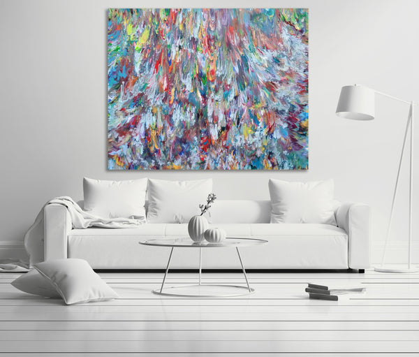 Triton's Revenge, Extra Large Abstract Painting