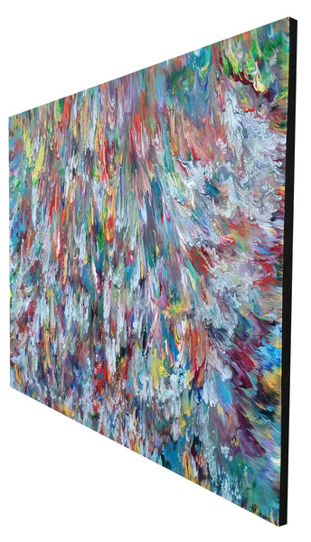 Triton's Revenge Sea Ocean Abstract Expressionism Fluid Acrylic Large Painting Modern Art 60x40 inch Canvas Ready to Hang