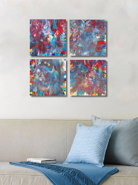 Secret Garden Quadtriptych Painting | 24 x 24 IN