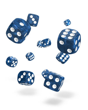 Oakie Doakie Dice D6 12 mm Marble Blue 36