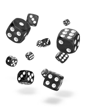 Oakie Doakie Dice D6 12 mm Marble Black 36