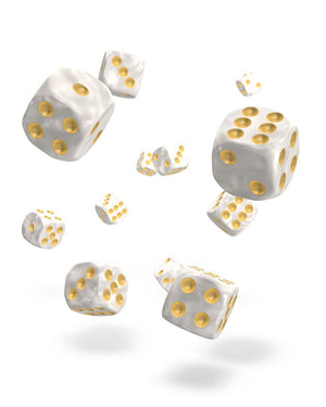 Oakie Doakie Dice D6 12 mm Marble White 36