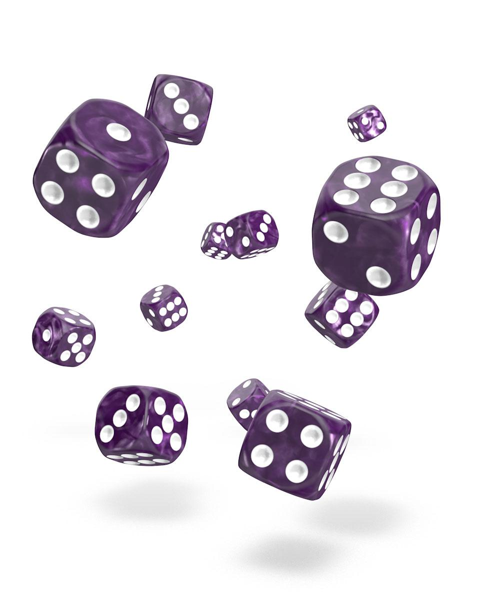 Oakie Doakie Dice D6 12 mm Marble Purple 36