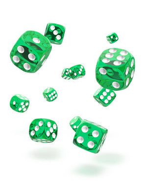 Oakie Doakie Dice 12mm Translucent Green 36