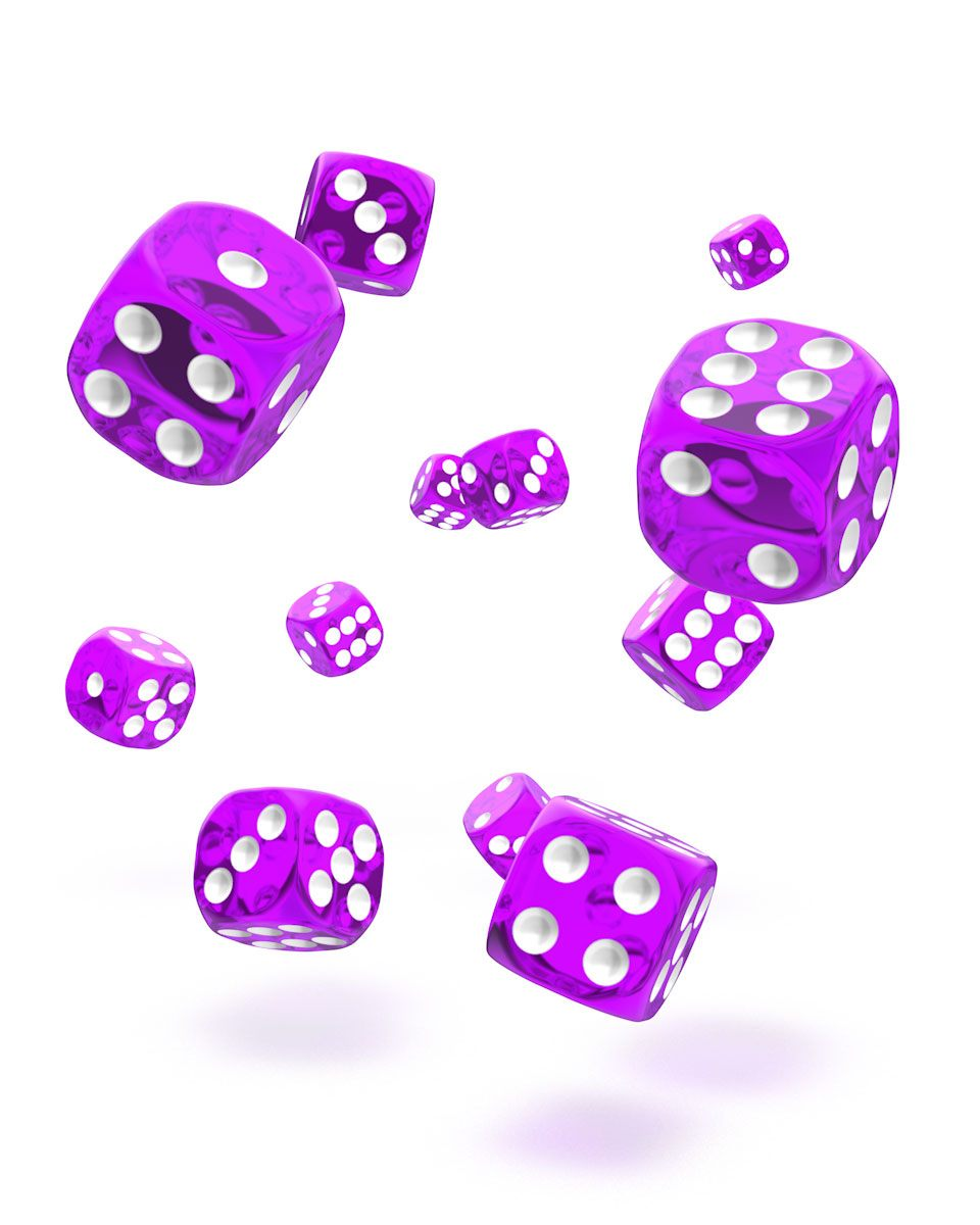 Oakie Doakie Dice 12mm Translucent Purple 36
