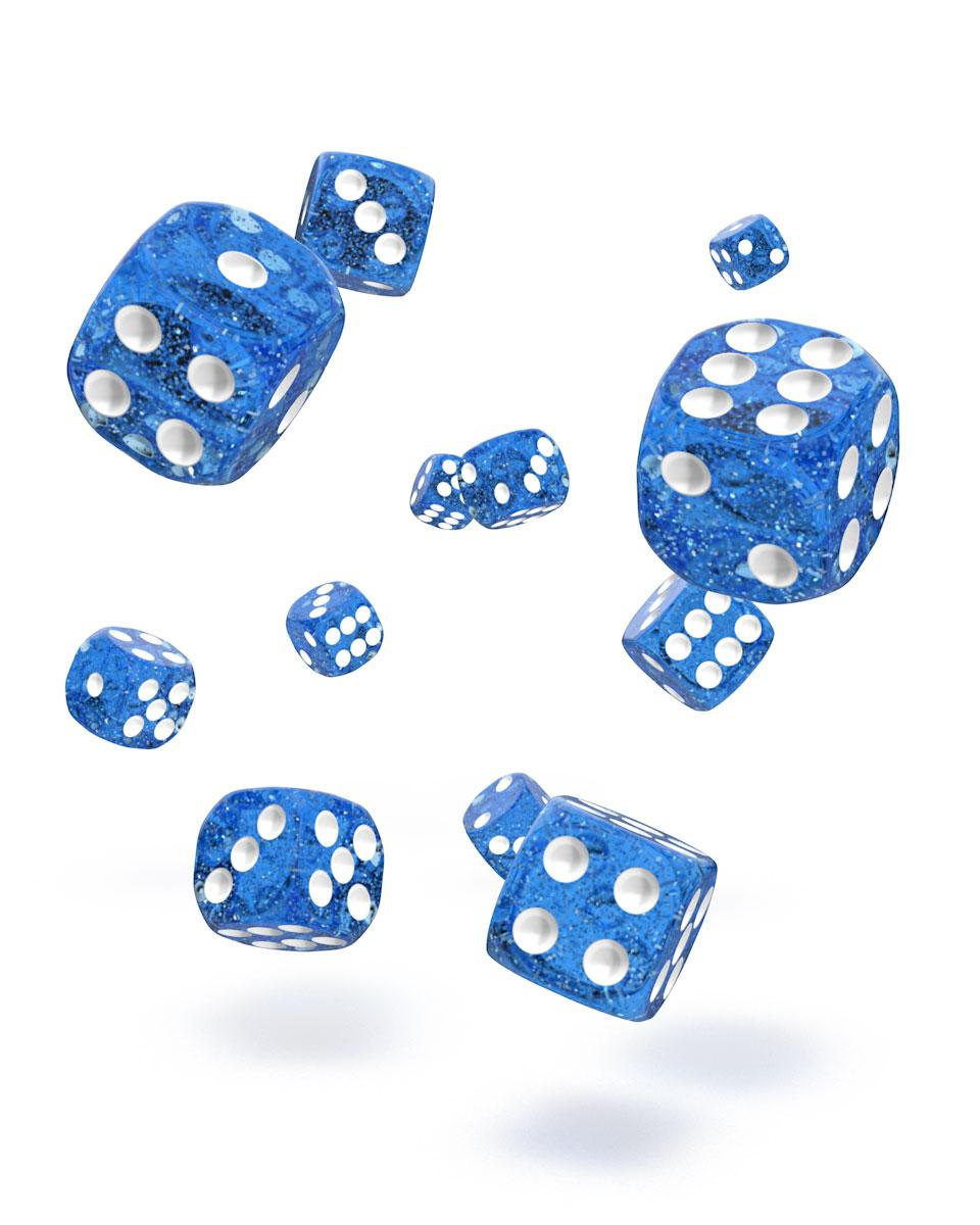 Oakie Doakie Dice D6 12 mm Speckled Blue 36