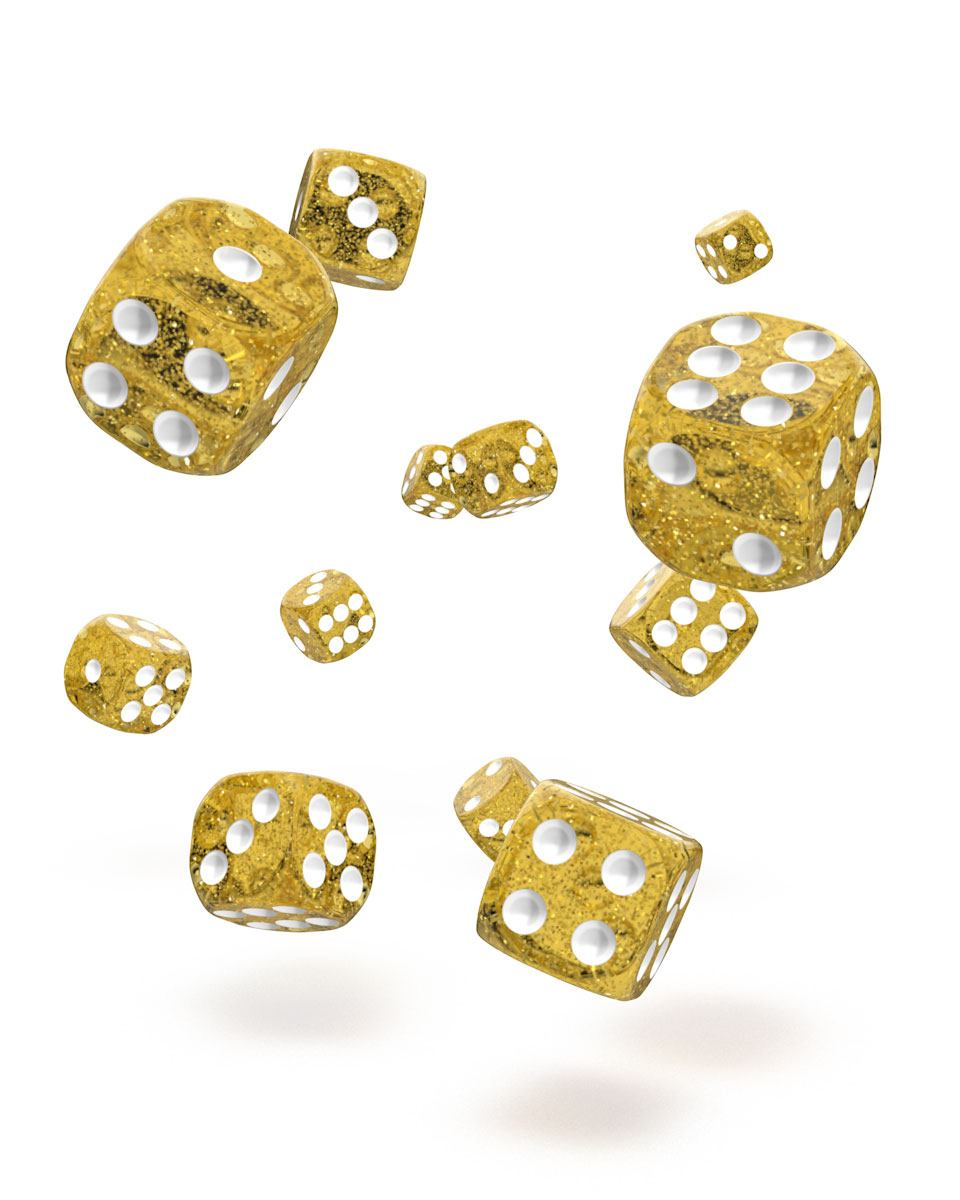 Oakie Doakie Dice D6 12 mm Speckled Orange 36