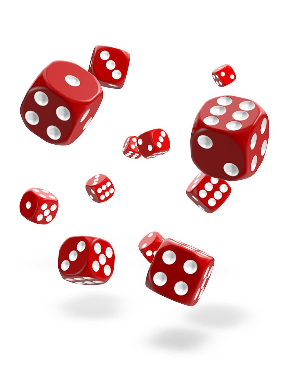 Oakie Doakie Dice D6 12 mm Solid Red 36