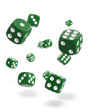Oakie Doakie Dice D6 12 mm Solid Green 36