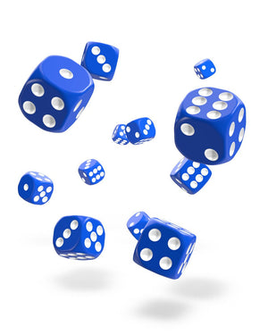 Oakie Doakie Dice D6 12 mm Solid Blue 36