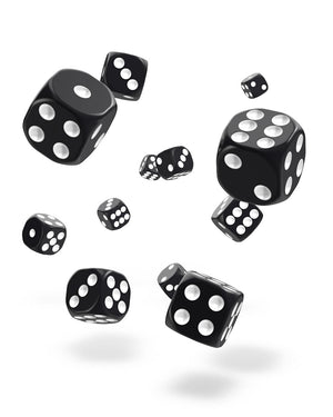 Oakie Doakie Dice D6 12 mm Solid Black 36
