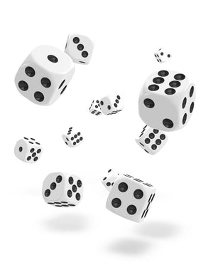 Oakie Doakie Dice D6 12 mm Solid White 36