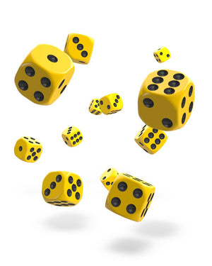 Oakie Doakie Dice D6 12 mm Solid Yellow 36