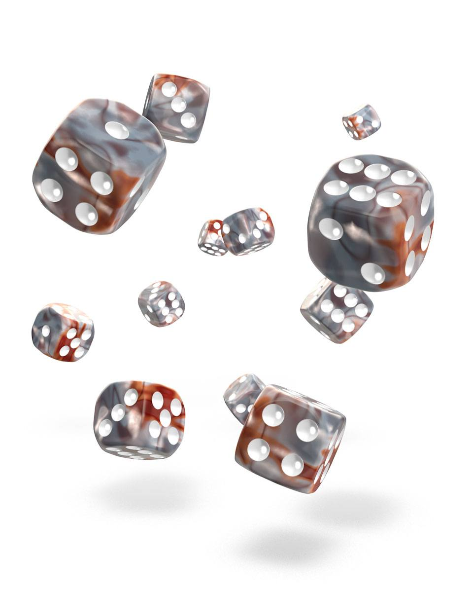 Oakie Doakie Dice 12mm Gemidice Silver-Rust 36