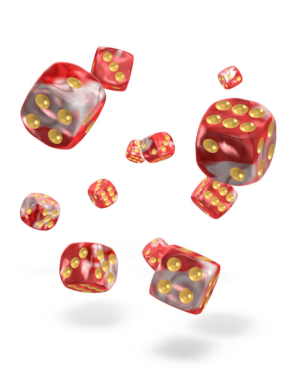 Oakie Doakie Dice 12mm Gemidice Red Sky 36