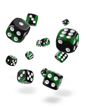 Oakie Doakie Dice D6 Dice 12 mm Glow in the Dark - Biohazard (36)
