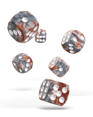 Oakie Doakie Dice 16mm Silver Rust 12