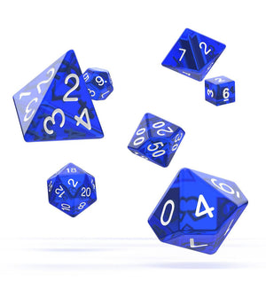Oakie Doakie Dice RPG Set Translucent - Blue (7)