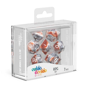Oakie Doakie Dice RPG Set Gemidice - Silver-Rust (7)
