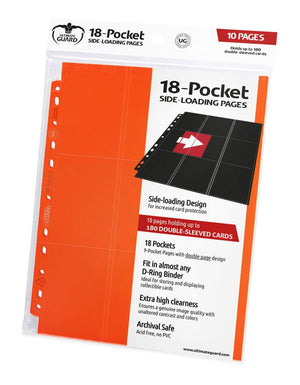 Ultimate Guard 18-Pocket Pages Side-Loading Orange