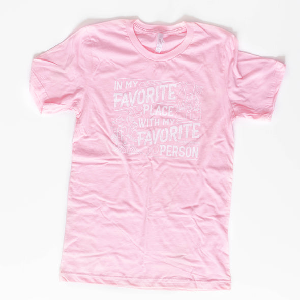 Favorite Place: Florida Person Pink Unisex Crew