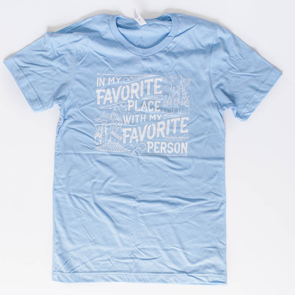 Favorite Place: Florida Person Blue Unisex Crew