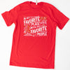 Christmas Favorite People Unisex Crew, Red