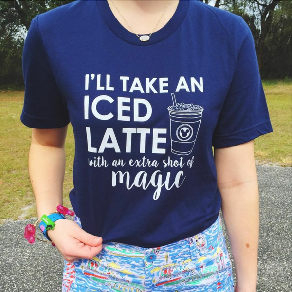 Latte Magic White Ink Unisex Crew Neck  Tee